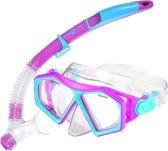 Aqua Lung Sport Molokai Spout Snorkelset Kinderen Roze Blauw