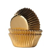 House of Marie MINI Cupcake Vormpjes Folie Goud pk/36
