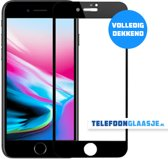iPhone 8 Glazen screenprotector (FULL COVER) (ZWART)   Tempered glass   Gehard glas