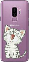 Samsung Galaxy S9 Plus Siliconen hoesje (katje)