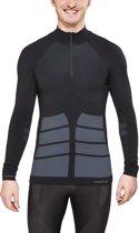 Odlo Evolution Warm Thermoshirt 1/2 Zip - Sportshirt - Heren - S - Zwart;Grijs