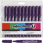 Colortime stift,  5 mm lijn, paars, 12 stuks