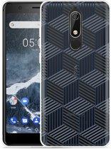 Nokia 5.1 Hoesje Isometric Pattern