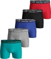 Bjorn Borg - Heren 5-Pack Boxershorts Zwart Grijs Rood Blauw Groen - S