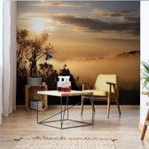 Fotobehang Mountain Sunrise | V4 - 254cm x 184cm | 130gr/m2 Vlies