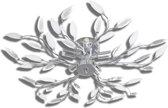 Plafondlamp met kristallen bladeren van acryl 5xE14 wit