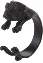 Verstelbare hond ring Zwart