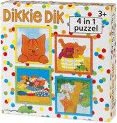 Dikkie Dik 4 in 1 puzzel