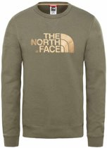 """The North Face Drew Peak Crew sweater heren olijf groen/goud """