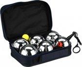 Get & Go Jeu de Boules Set I - 6 Ballen - Chroom/Zwart
