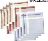 Zakdoeken - Heren - 12 zakdoeken - Sorprese - cadeauset - heren zakdoeken - zakdoek - 7