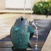 Tuinbeeld - bronzen beeld - vis waterfontein - Bronzartes