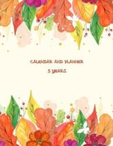 Calendar and Planner 5 Years: Monthly Calendar and Planner - 5 Year Planner 60-Month Schedule (Five Years Monthly Planner Organizer)