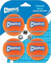 Chuckit! Tennis Ball Medium - 4 stuks