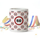 Mok met Leeftijd (verkeersbord) 50 jaar Verjaardag