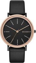 Skagen Hald SKW2490 - Horloge - Leer - Zwart - Ø 34 mm