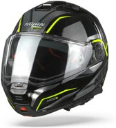 Nolan N100-5 Balteus 43 Glossy Black Yellow Systeemhelm - Motorhelm - Maat L