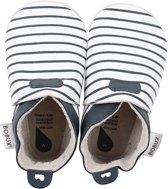Bobux babyslofjes white with navy stripes