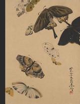 Shibata Zeshin - Butterflies - College Ruled Composition Book