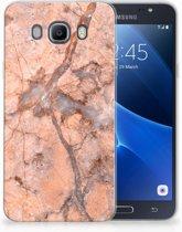 Samsung Galaxy J7 2016 TPU Hoesje Design Marmer Oranje