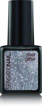 Sensationail Gel Polish - Silver Glitter - Zilver - Gel nagellak
