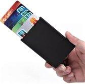 1aa024e99e8 Pasjeshouder Aluminium - Aluminium RFID Proof - Uitschuifbare Wallet Zwart  - Cadeautip