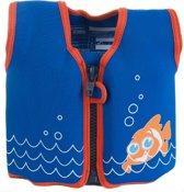 Konfidence - Zwemvest Kind - kinderzwemvest - Drijfvest voor kinderen van ca. 4 tot 5 jaar en 20-25 kg - Scoot blauw