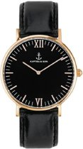 Kapten & Son Mod. Campina All Black RG Leather - Horloge