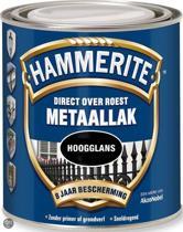Hammerite Metaallak Hoogglans Klassiek Rood 0,25L