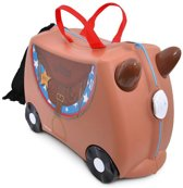 Trunki Ride-On Paard Bronco - Kinderkoffer - 21 cm - Bruin