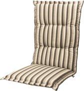 Tuinkussen Hoge rug Kopu® Lines Grey 125x50 cm - Met opbergtas