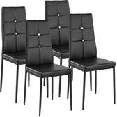 TecTake - set van 4 eetkamerstoelen Julien zwart - 402545