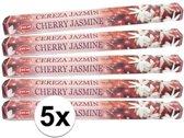 5x pakje wierook stokjes Cherry Jasmine