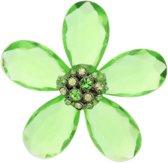 Groene bloemen broche