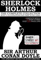 The Complete Sherlock Holmes: 4 Novels and 56 Short Stories with 92 Illustrations and Free Online Audio Links.
