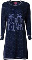 Irresistible Dames Nachthemd Slaapkleed Blauw IRNGD2504B Maten: XL
