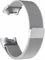 Fitbit Charge 3 Milanese Horloge Bandje Zilver (Medium) 2018 met magneetsluiting - Verstelbaar - RVS - Activity Tracker Wearablebandje - Milanees horloge armbandje / polsbandje - Activity tracker - horloge band - inclusief garantie!