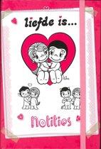 InterStat Notitieboek Liefde Is A6 14x9,5 cm - Roze