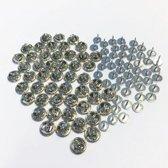 50 Stitch Pins - 8mm - Zilver