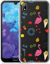 Huawei y5 2019 Hoesje Summer Flamingo