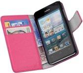HC Bookcase Flip Wallet Telefoonhoesje - Huawei Ascend Y300 Roze