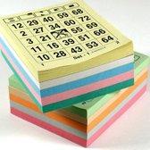 Bingo bloks 5x 100 verschillende kleuren Bingokaarten 1-75