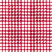 Oktoberfest - Servetten geruit rood/wit 3-laags 20 stuks