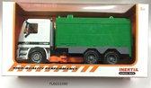 Veegwagen 36cm groen/wit