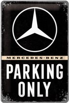 Wandbord - Mercedes-Benz Parking Only - 20x30 cm