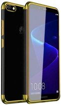Teleplus Huawei Y5 2018 Luxury Laser Silicone Case Gold + Nano Screen Protector hoesje