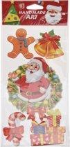 Kerst decoratie 3D raamstickers type 1 20 x 45 cm