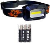 Hoofdlamp LED breedstraler | incl. batterijen | IPX6 | zwart | KMHL013