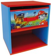 Nickelodeon Paw Patrol Nachtkast Hout Blauw/rood 33x30x36 Cm