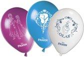 Set van 8 ballonnen van Frozen™ - Feestdecoratievoorwerp